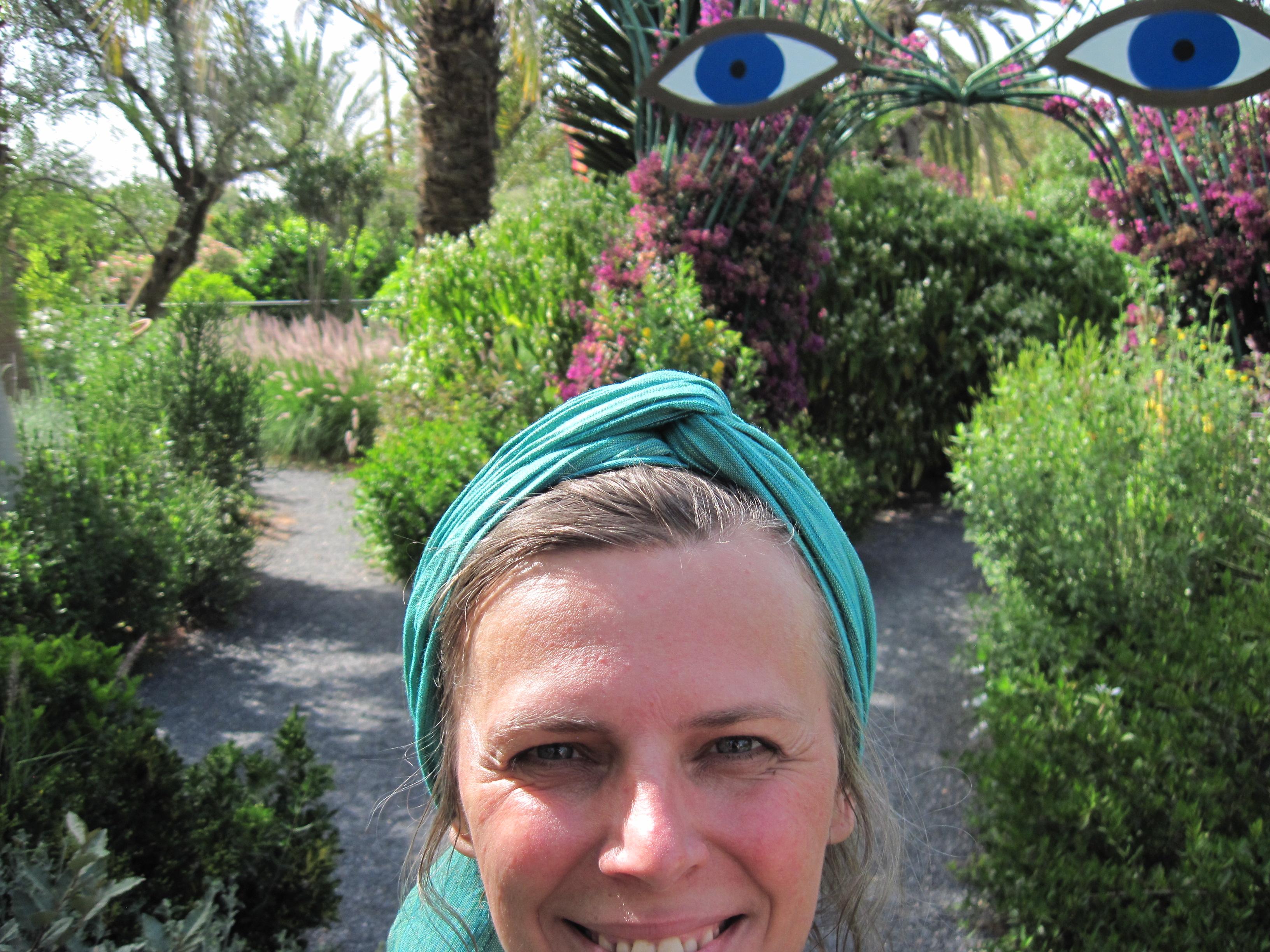 Roswitha-in-Hellers-Garten/Marokko